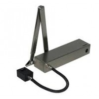 Arrow 624EM Silver Electromagnetic Hold Open Door Closer