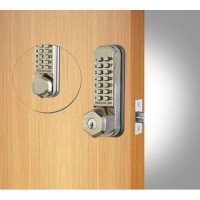 Codelock 290 Mortice Latch Stainless Steel KEYOVERIDE BACK TO BACK