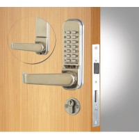 Codelock 420 Mortice Lock with Double Cylinder Stainless Steel
