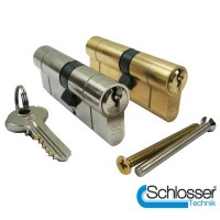 UE6 Anti Snap Euro Profile Double Cylinder 40/45 Brass