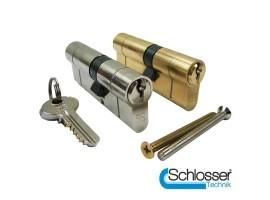 UE6 Anti Snap Euro Profile Double Cylinder 35/35 Nickel