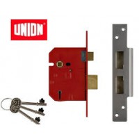 Union 2234E 64mm Polished Brass 5L British Standard Sashlock