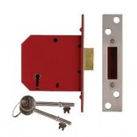 Union 2134E 64mm Polished Brass 5L British Standard Deadlock