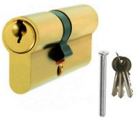Elite Door 6 pin Euro Profile 100mm Double Cylinders (50/50) Brass