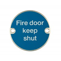 X2020 Fire Door Keep Shut Symbol SSS
