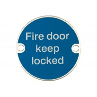 X2021 Fire Door Keep Locked Symbol SSS
