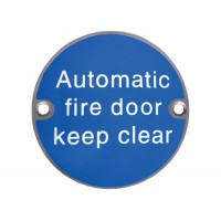 X2022 Automatic Fire Door Keep Clear Symbol SSS